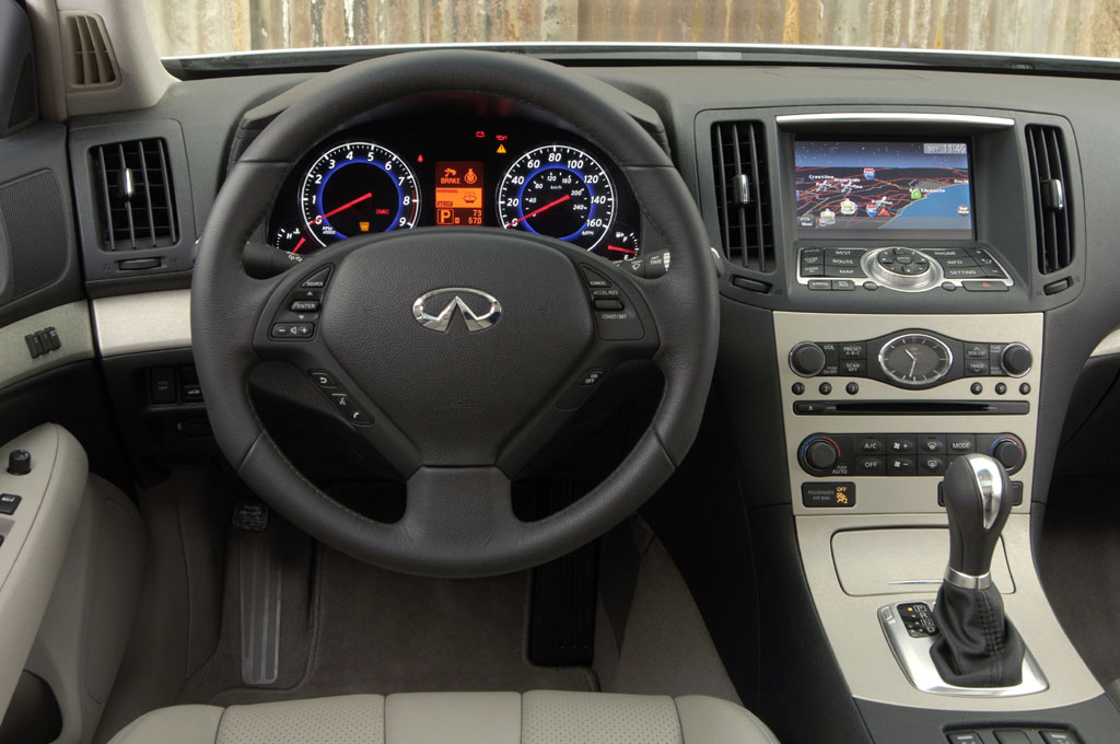 Superb Interior Wheel Drive View Of Infiniti G35 Coupe Nice Look