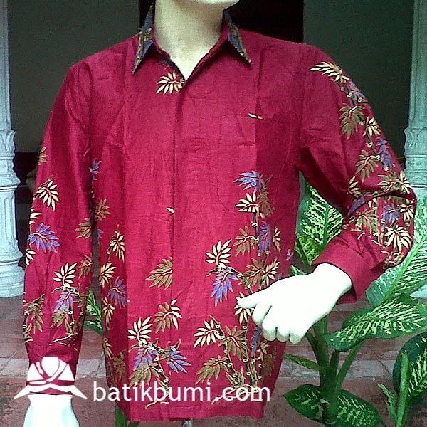 Kemeja Batik Panjang Bambu BP 029  jual batik murah Batik modern