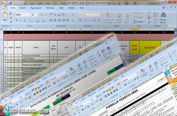 Aplikasi PPDB untuk SD Terbaru dengan Microsoft Excel
