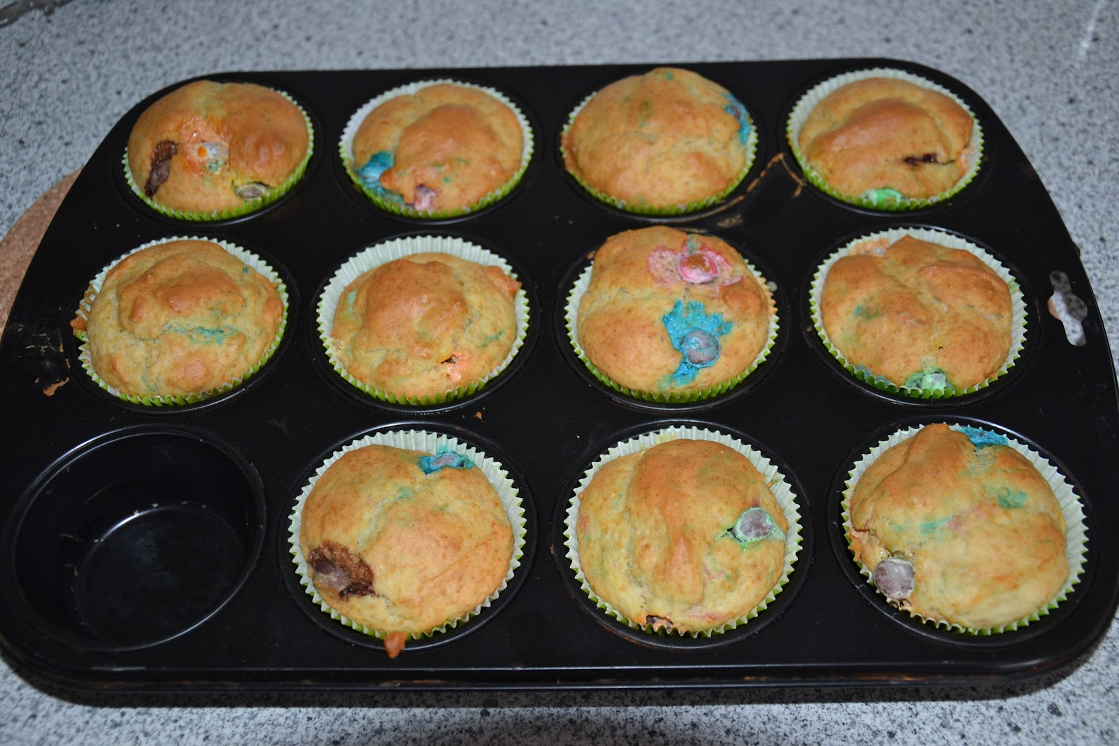 Muffin rezept smarties