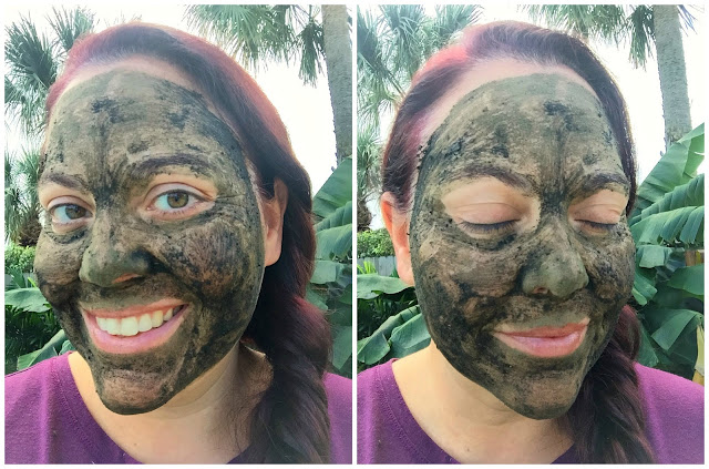 Selfies of me testing the Mahalo Pele Mask