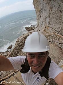 Me above Gorham's Cave