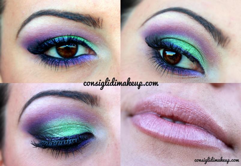 makeup verde viola