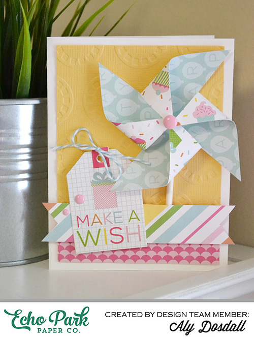 Aly Dosdall Embossed Birthday Card