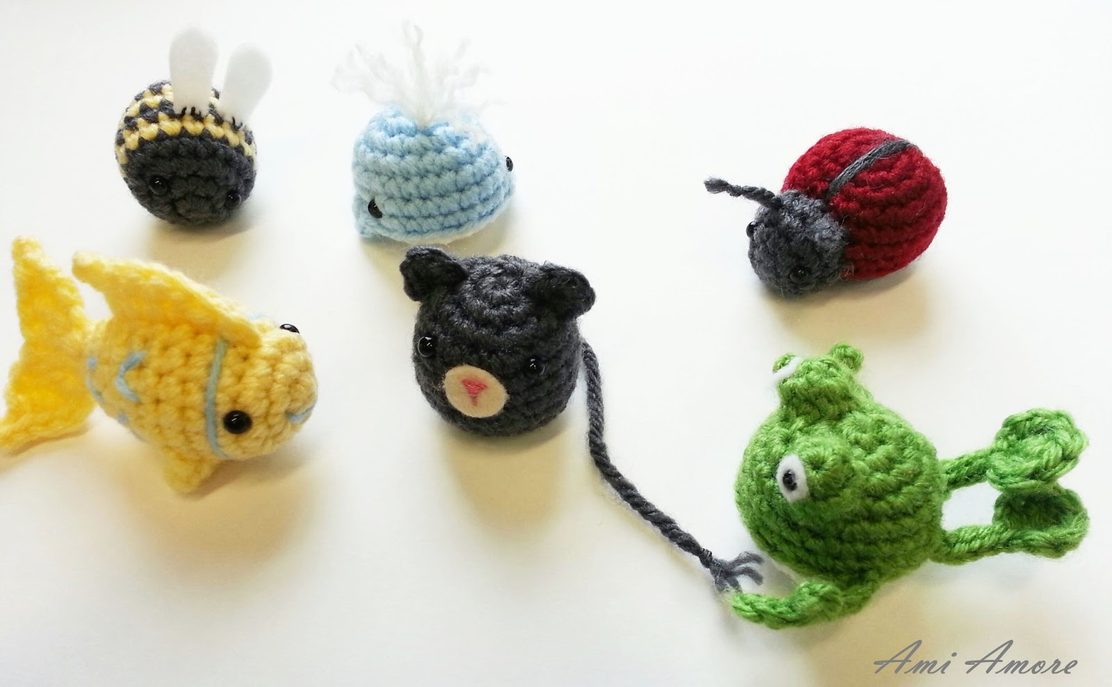 Crocheting Toys : loved how the fish, bumblebee and ladybug turned out, the frog needs ...