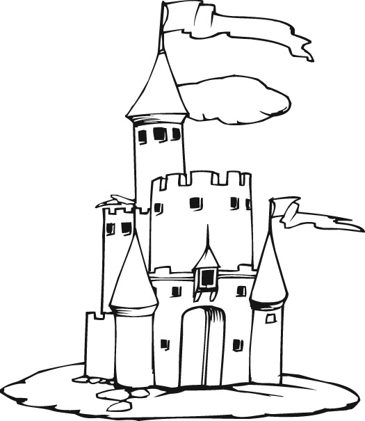 New Disney Coloring Pages : Princess Cinderella Castle title=