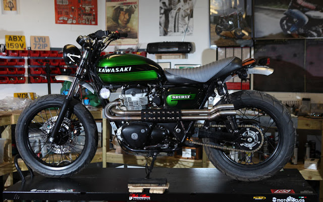 Kawasaki W800 Scrambler by Spirit Of The Seventies