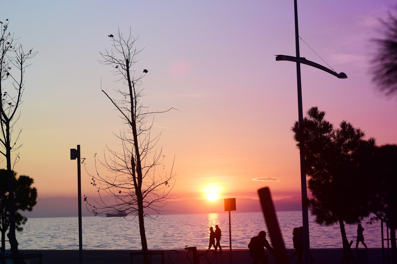 k-meets-style sunset in thessaloniki