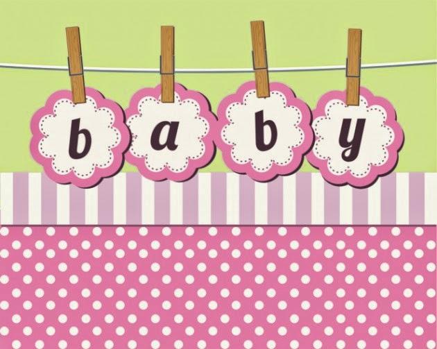 Tarjetas e Invitaciones de Baby Shower para Niñas, parte 1