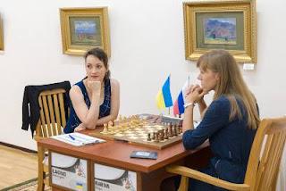 L'Ukrainienne Kateryna Lagno annule face à la Russe Olga Girya lors de la première ronde à Tashkent - Photos © Maria Emelianova