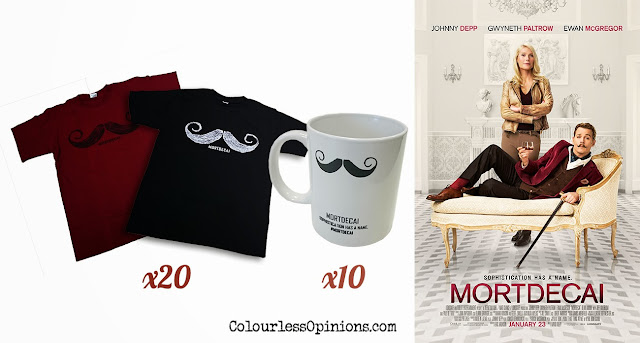 mordecai mustache t-shirt mug giveaway malaysia
