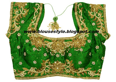 GREEN DESIGNER BLOUSE