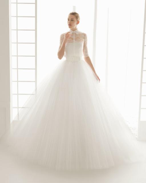 Rosa Clara 2016 modelo Dosel - vestido novia manga larga - Blog de Bodas