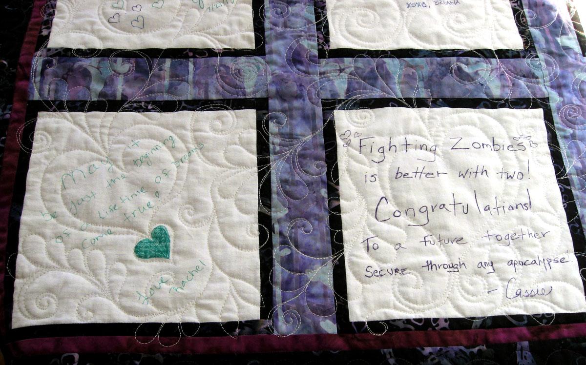 Fiber Antics by Veronica: Quilting a Wedding Wishes signature quilt : wedding signature quilt - Adamdwight.com