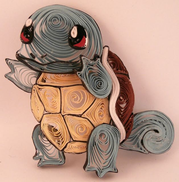 paper quilling cartoon characters