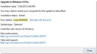 soluzioni errori aggiornamento windows 10