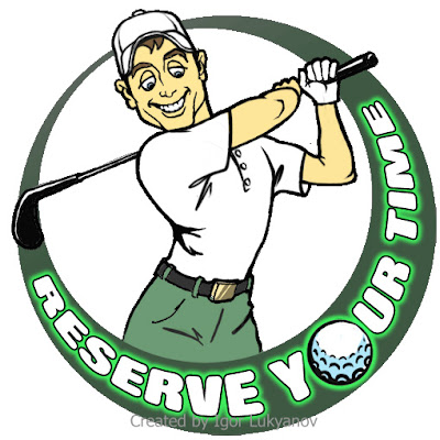 realistic illustrative logo (sports golf)