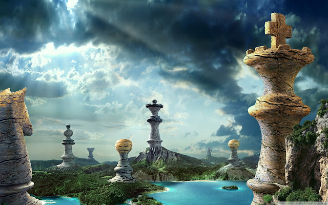 chess, fantasy, art, wallpapers