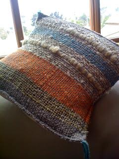 Ayinray tejidos decoracion cojines tejidos en telar con lana natural de oveja - Cojines de lana ...
