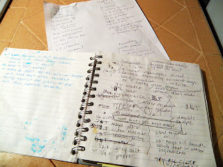 Handwritten book of recipe tweaking