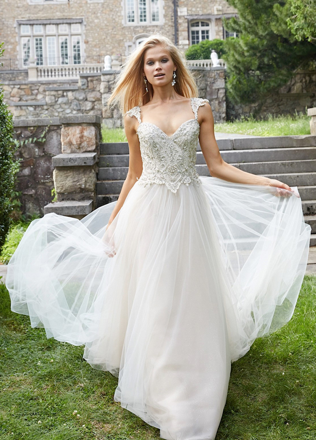 Wedding Dresses With Cap Sleeves And Sweetheart Neckline | Wedding Ideas