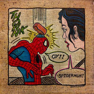 Look Out Spidermun - By Jeannette Herrera