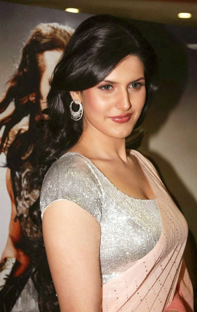 Zarine Khan Latest Hot Pics Gallery [HD Photos] In backless Saree