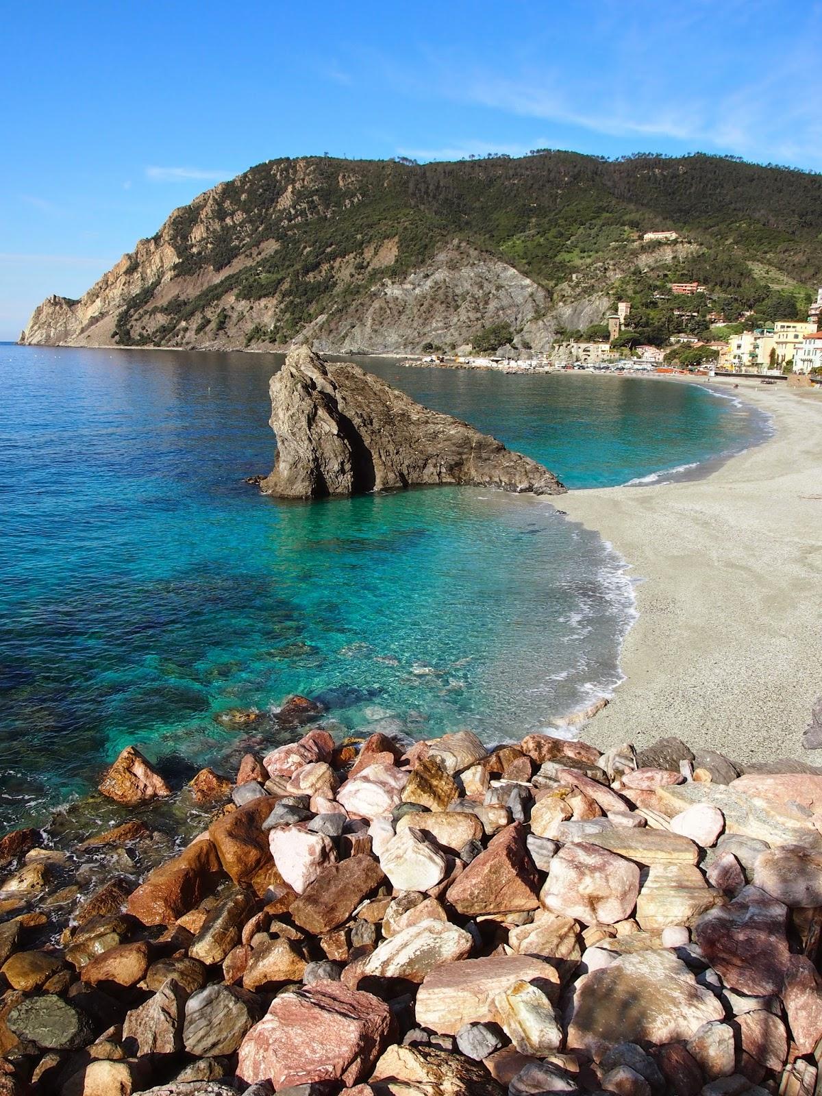 beautiful beaches in Cinque Terre, Italy