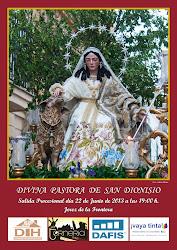 Cartel Divina Pastora de San Dionisio 2013.