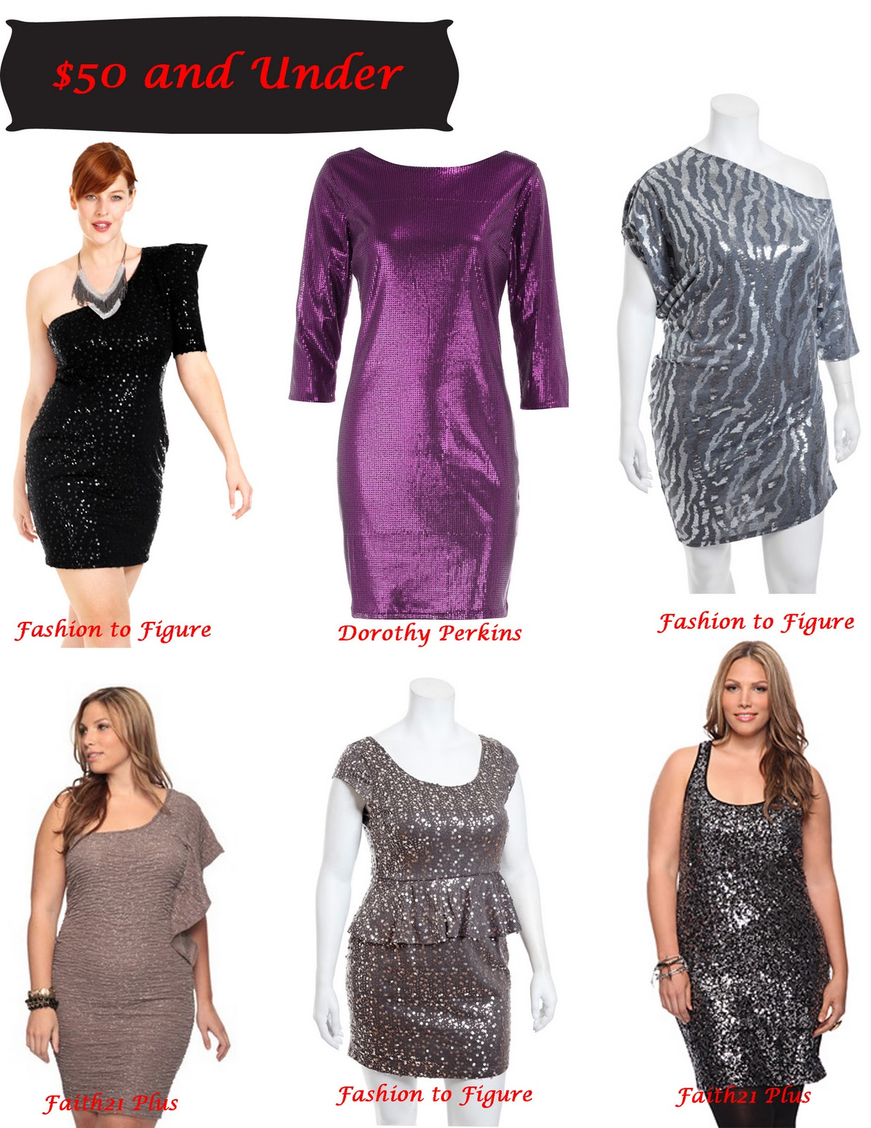 Stylish Curves Holiday Style Guide Plus Size Sequin Dresses For