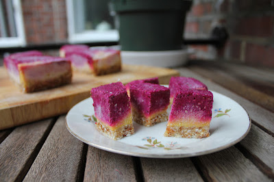 Frozen Fauxmage Mango and Beet Torte