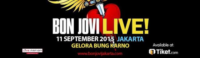 Jadwal Konser Bon Jovi Live In Jakarta 2015