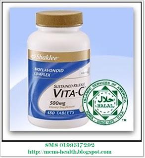 Vitamin C 500mg Shaklee - mencerahkan kulit, melambatkan penuaan serta mengurangkan pigmentasi.
