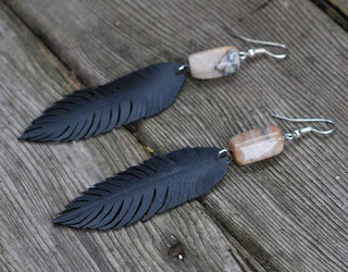 earrings made from recycled materials