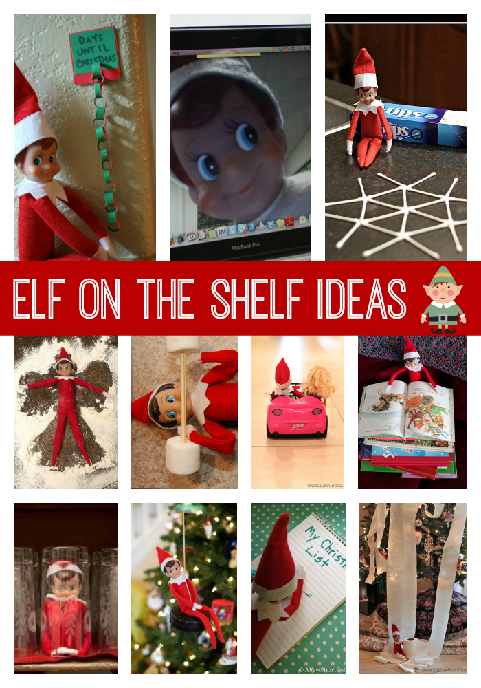 These collections of over more Elf on the Shelf hiding spots are sure to bring the giggles! 25 + Ideas for Elf on the Shelf (by the Idea Room) 20 Things to do With Your Elf on the Shelf (by Spaceships and Laserbeams) 75 Family Friendly Elf on the Shelf Ideas (by Skinny Mom) Elf on the Shelf Ideas .
