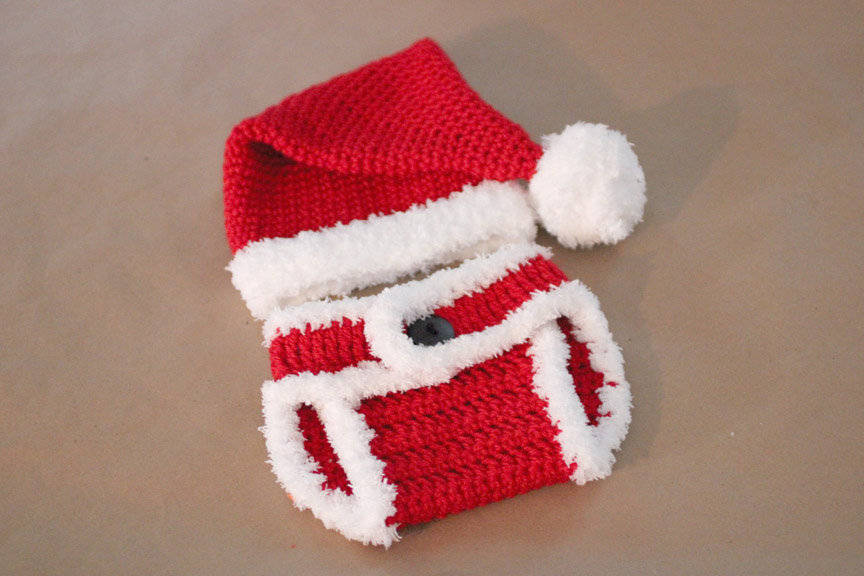Crochet Santa Hat And Diaper Cover Repeat Crafter Me