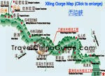 Yangtze Xiling Gorge Map