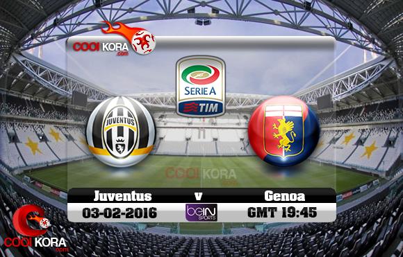 مشاهدة مباراة يوفنتوس وجنوى اليوم 3-2-2016 في الدوري الإيطالي