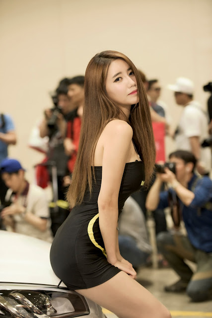 2 Im Sol Ah - 2015 Seoul Auto Salon - very cute asian girl-girlcute4u.blogspot.com