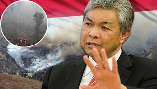Zahid kritik cara Indonesia tangani jerebu