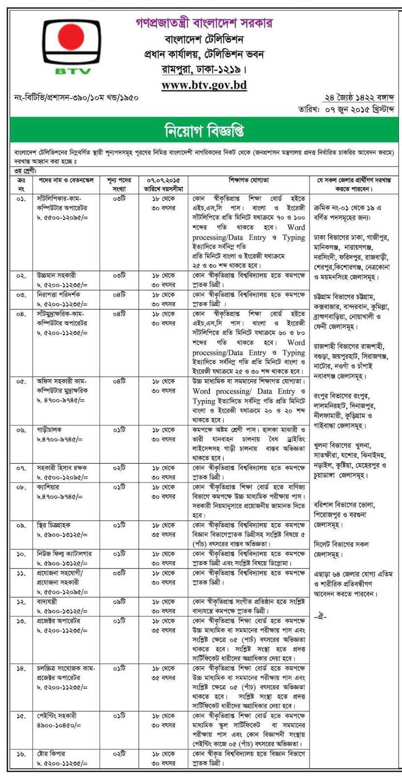 general bcs medical engineering jobs bank jobs bd jobs job in btv television
