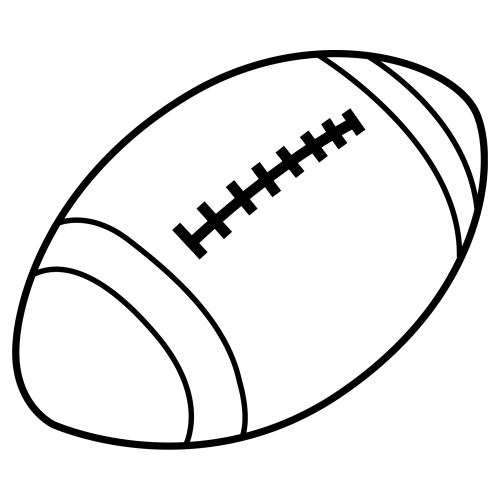Balón de fútbol americano Dibujos para colorear - Imagenes De Balones De Futbol Americano Para Colorear