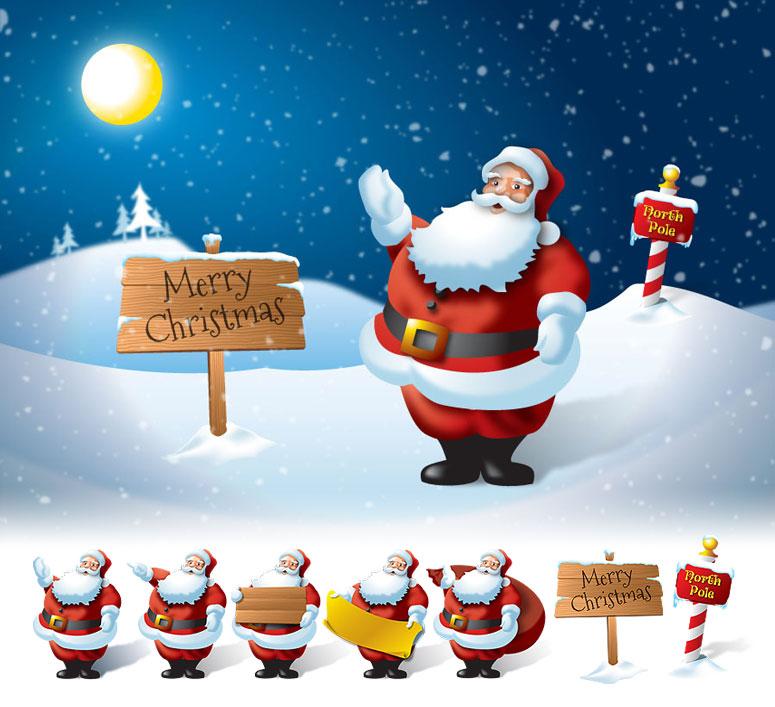 enjoy christmas with santa claus - Santa Claus Christmas Cards