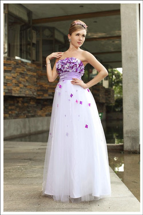 She Fashion Club Purple And Black Wedding Dresses