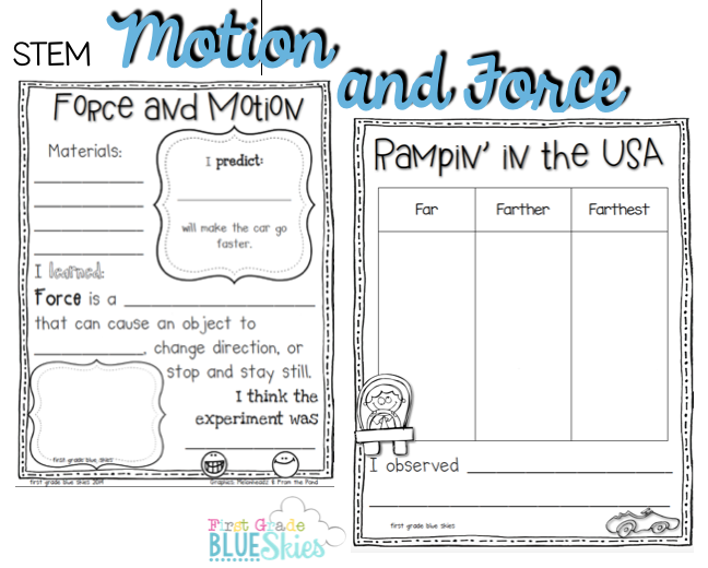 Adaptable image intended for force and motion printable worksheets