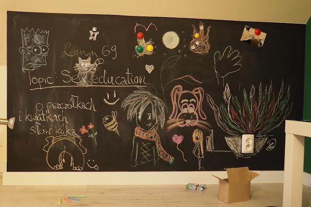 art, kreda, chalk