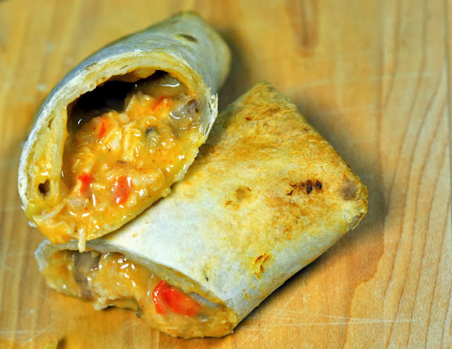 Red's All Natural Chicken & Cheese Burrito | Taste As You Go