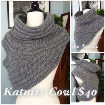 Crocheted Hunger Games Cowl ~ $40