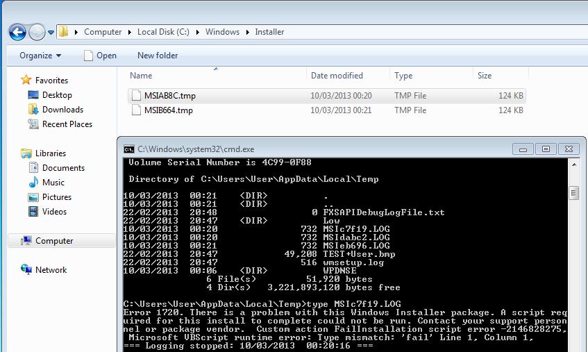 can i delete windows installer tmp files