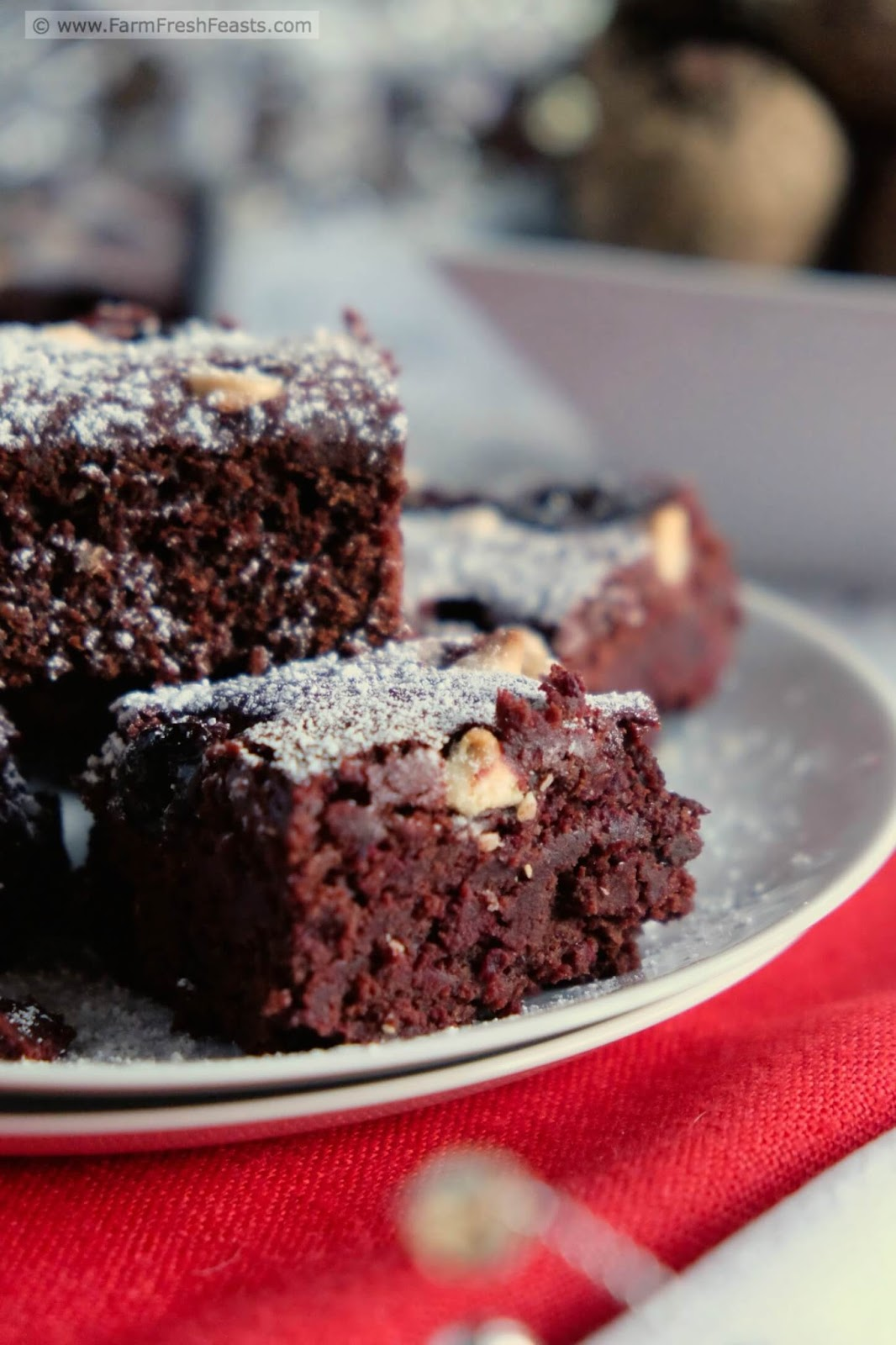 Farm Fresh Feasts: Chocolate Cherry Beet Brownies